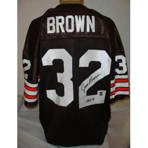 Jim Brown Autographed Jersey
