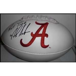 Nick Saban Signed University of Alabama logo football   Autographed