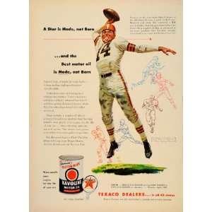1954 Ad Havoline Motor Oil Otto Graham Cleveland Browns