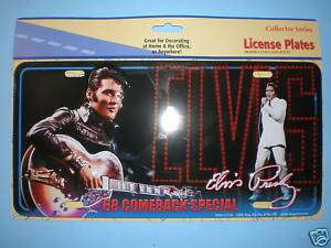 Elvis 68 Comeback Special Collector License Plate