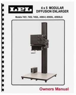 NEW!   LPL 4x5 Enlarger Instruction Manual   NEW!