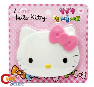 Sanrio Hello Kitty Face Compact Hair Comb & Mirror