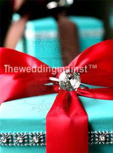 Wedding Card Box Money Holder Aqua Blue FALL WINTER