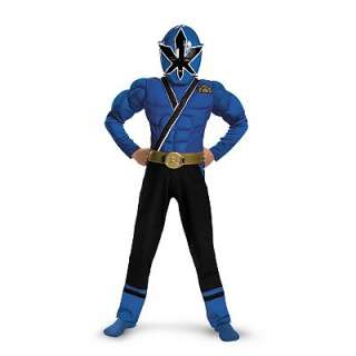 Power Rangers Samurai Blue Ranger Muscle Costume   Kids