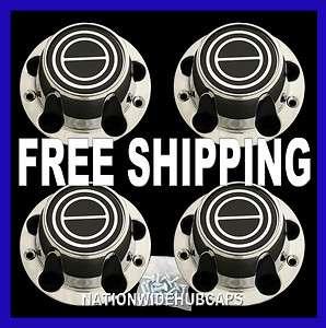 FORD F 150 BRONCO CHROME Black Wheel Center Cover 5 Lug Hub Caps Rim