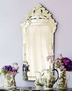 Rectangle Venetian Framed WALL MIRROR 40Tx21W Vanity Mantel NEW W2
