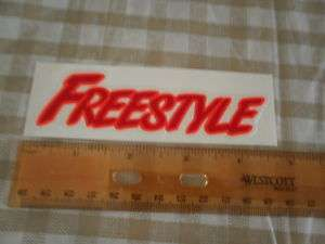 FREESTYLE STICKER 4A MID OLD SCHOOL BMX BIKE +8more
