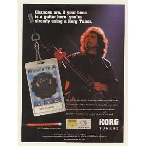 2002 Tony Iommi Korg Guitar Tuner Photo Print Ad (Music