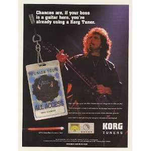 2002 Tony Iommi Korg Guitar Tuner Photo Print Ad (Music