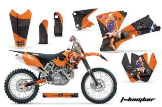 AMR RACING MX DECO STICKER GRAPHIC KIT KTM 03 04 EXC XC 01 02 SX 125