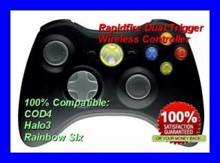 Xbox 360 Rapid Fire Controller BLACK for COD4 & Halo 3