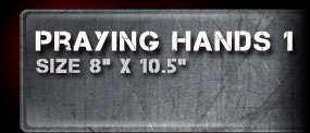 "/""Praying Hands 1/"" Airbrush Stencil Template Airsick"