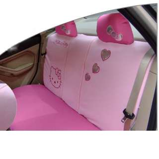 Hello Kitty Auto Car Breathable cloth Seat Cover 10pcs four color pink
