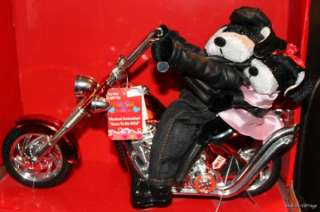 NEW Valentine Motorcycle Dog Couple Animated Musical Born to be Wild