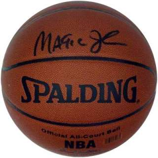 MAGIC JOHNSON AUTOGRAPHED SIGNED BASKETBALL PSA/DNA LAKERS