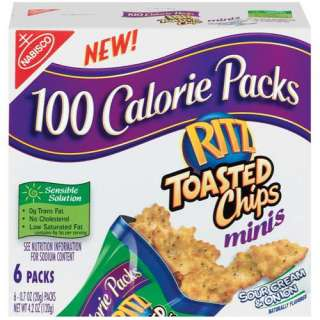 Nabisco 100 Calorie Packs Ritz Minis Sour Cream & Onion Toasted Chips