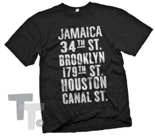 New York City SUBWAY T Shirt Brooklyn Jamaica Queens NY
