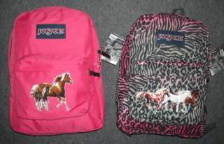 Girls HORSE Backpack~Animal Print~JanSport~Running HORSES~NWT~Great