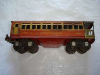 Lionel Pre War 1691 Passenger Train Car Tin O Gauge