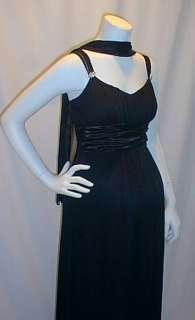 Long Formal Kelly Green Satin Sash Maternity Dress