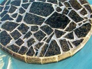 GRANITE MOSAIC TABLE TOP PATIO BISTRO PLANT COFFEE