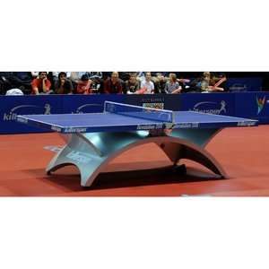 Killerspin Revolution SVR Table Tennis Table in Blue Game Room
