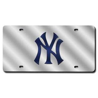 MLB   New York Yankees Silver License Plate Laser Tag