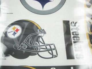 NFL Pittsburgh Steelers 11x17 Window Decal Sticker B