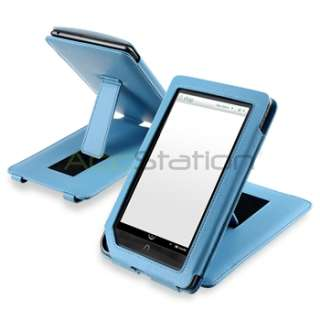 For  Nook Color Blue Premium Folio Leather Case Pouch