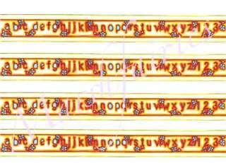 MF 1/12 Dolls House Nursery Alphabet Wallpaper Borders