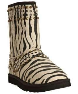 Jimmy Choo Ugg by Jimmy Choo black zebra Kaia studded shearling