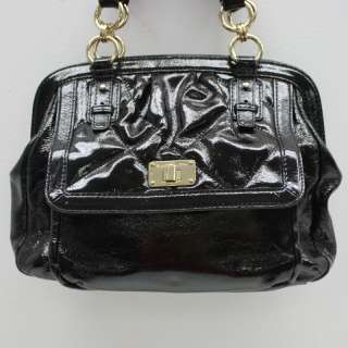 Elliott Lucca Black Patent Leather Handbag New