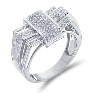 Diamond Mens Wedding Band Invisible Pave Set Round Cut Diamond Ring (1