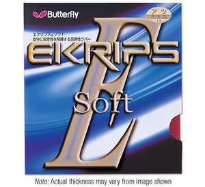 Ekrips Soft rubber Table tennis ping pong Explosive softer Rubber