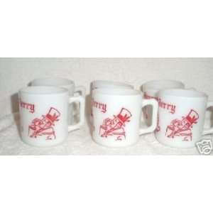 Set of 6 Hazel Atlas Tom & Jerry Mugs