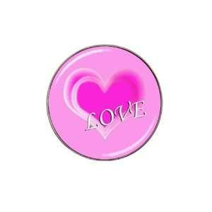 Pink Love Heart 1  Golf Ball Marker