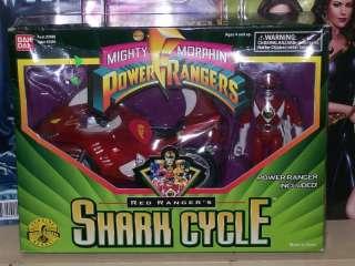POWER RANGERS RED RANGER SHARK CYCLE FIGURE