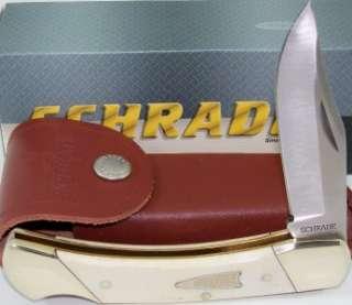 Schrade Old Timer Bone Lockback Hunting Skinning Knife w/Sheath