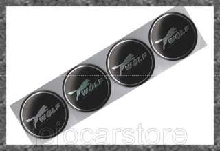 G58 WOLF FOCUS FORD Emblem Badge Decal Wheel Hub Cap x4