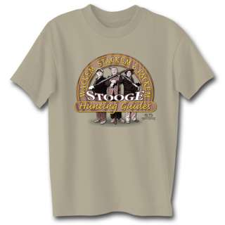 THREE STOOGES HUNTING GUIDES ADULT T SHIRT