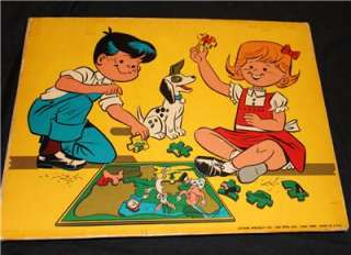 OLIVE OYL JAYMAR VINTAGE PUZZLES TOY KING FEATURES INLAID TRAY