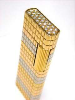 Van Cleef & Arpels Trinity Tri Color 18k Gold DIAMOND Lighter   VCA