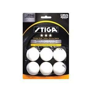 Stiga Three Star White Table Tennis Balls Sports
